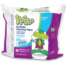 100 Pack Sensitive Flushable Wipes