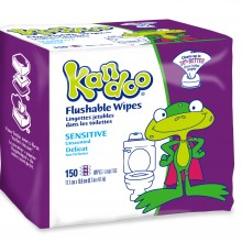 150 Count Sensitive Flushable Wipes