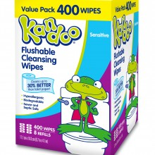 400 Pack Sensitive Flushable Wipes