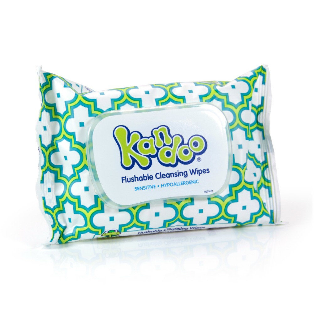 Kandoo flushable wipes sensitive pack