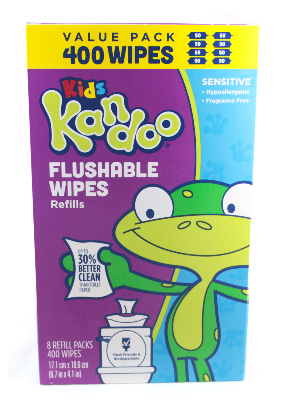 Kandoo flushable wipes sensitive 400 count refills