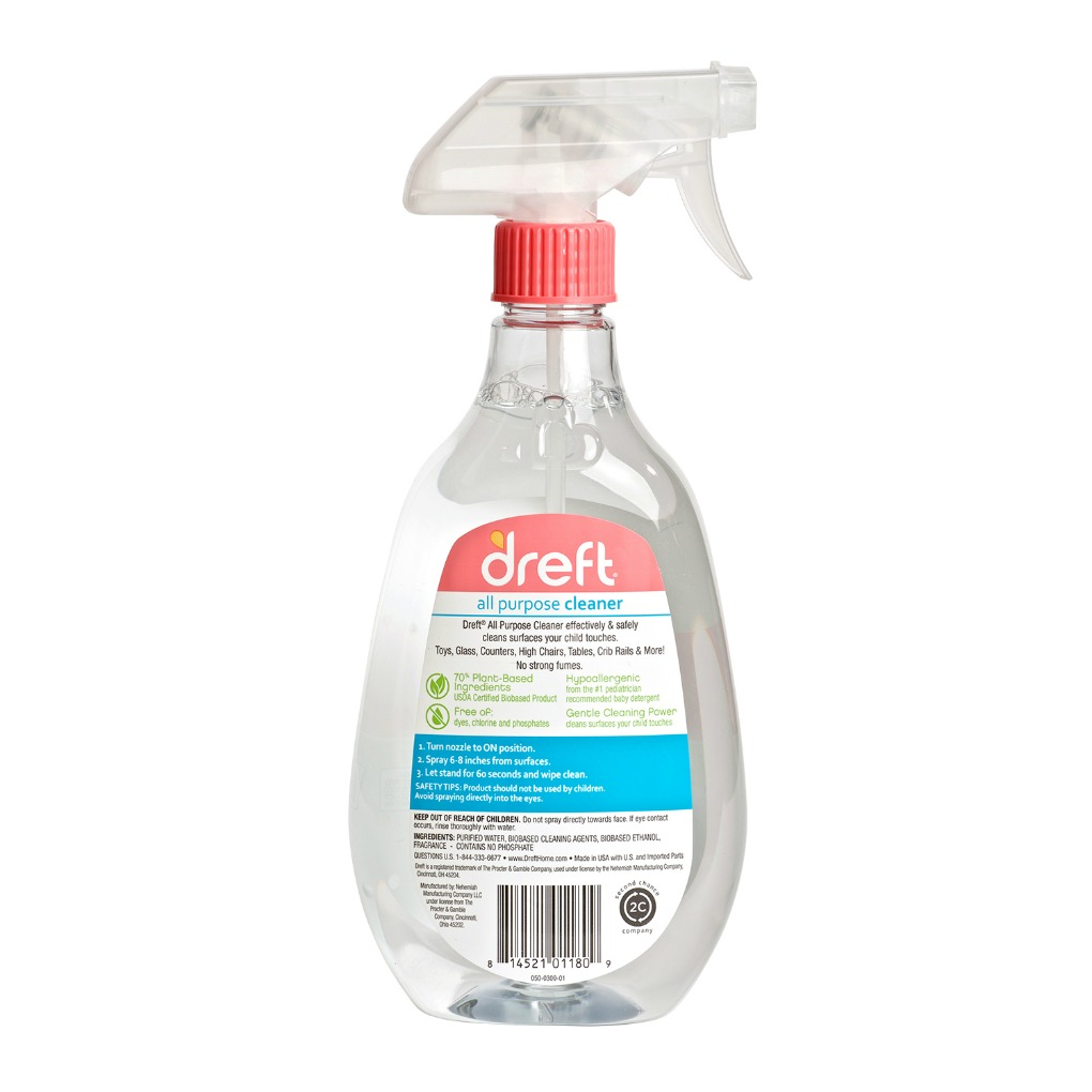 Dreft All Purpose Cleaner spray bottle back
