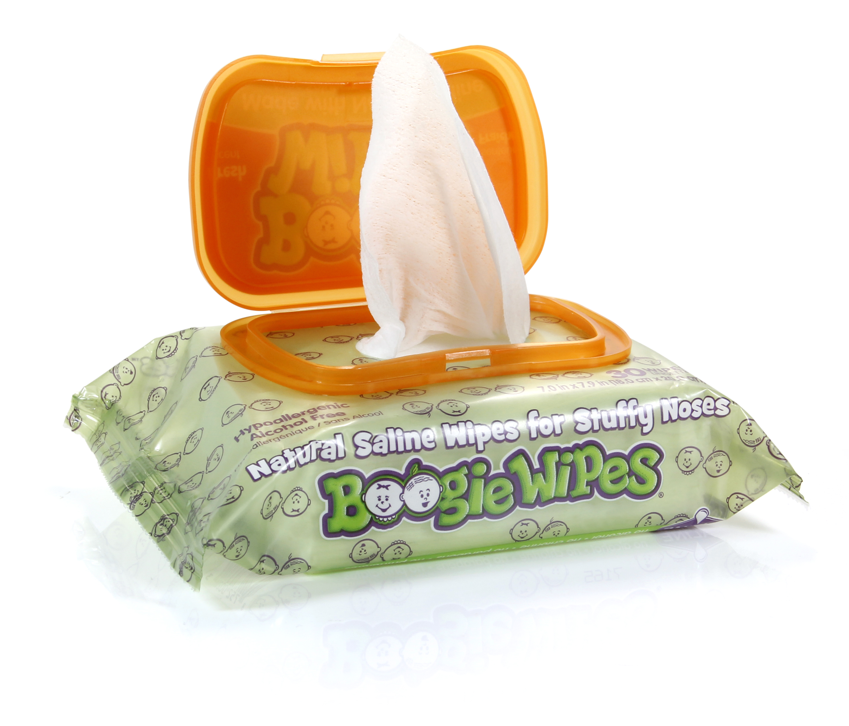 Boogie Wipes fresh scent 30 pack open