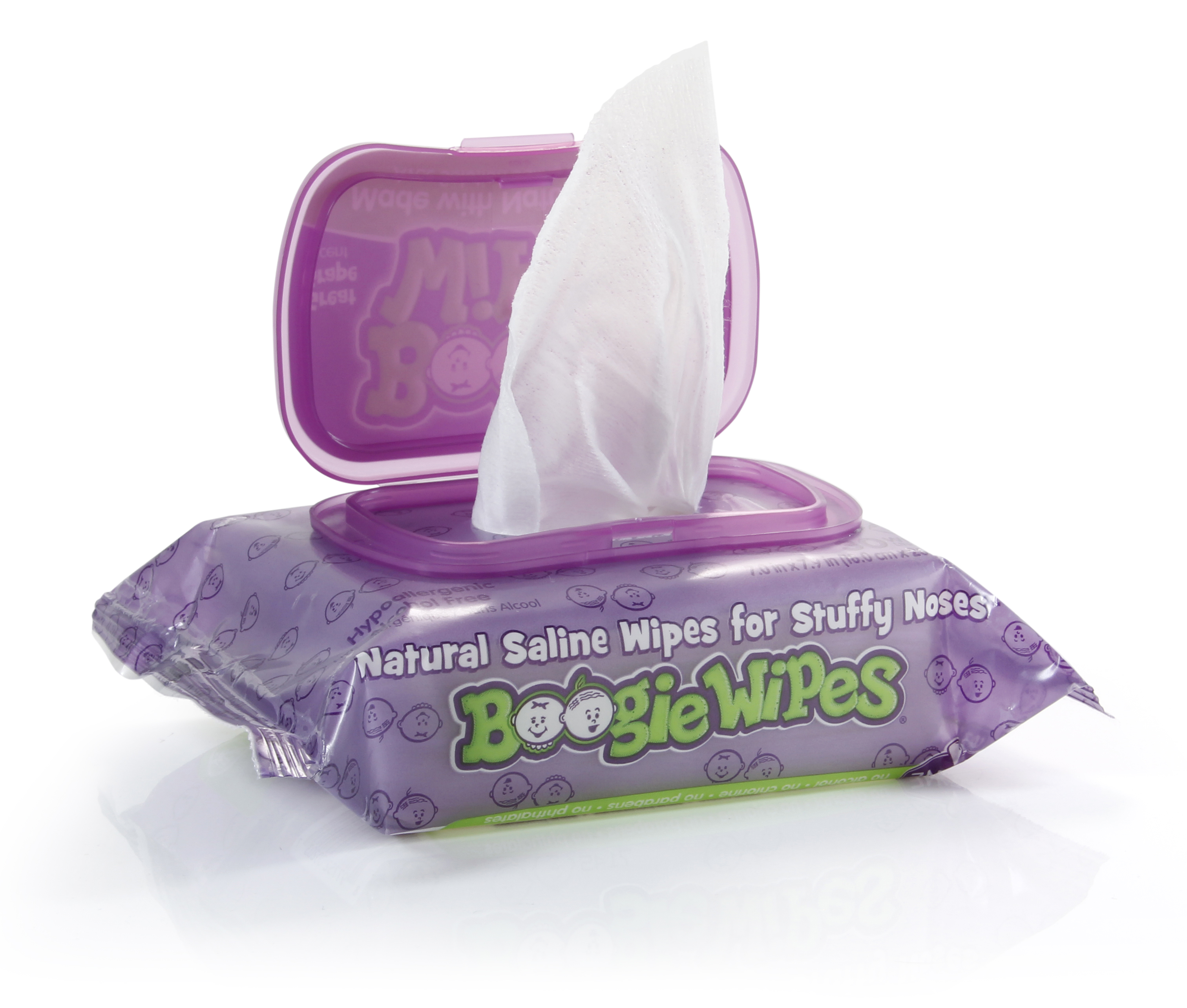 Boogie Wipes great grape 45 pack open