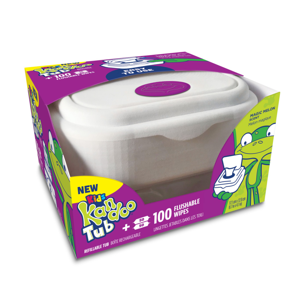 Kandoo Flushable Wipes Magic Melon Tub