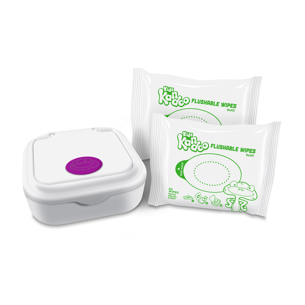 Kandoo Flushable Wipes Magic Melon Tub with Refills