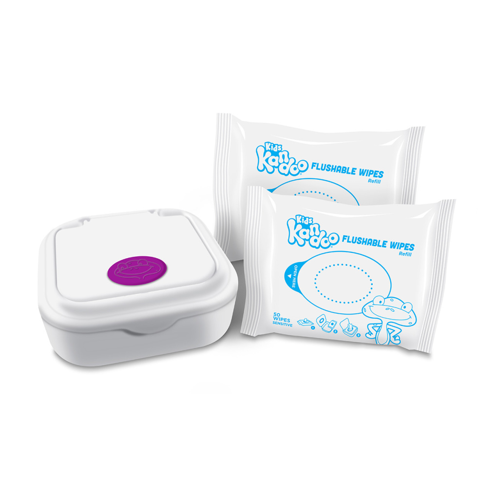 Kandoo Flushable Wipes sensitive Tub with refills